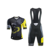 Anti-bacterial, UV-protective cycling jersey set