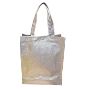 Embossed PU glitter promotional bag