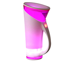 Smart promotional cup interacts with user