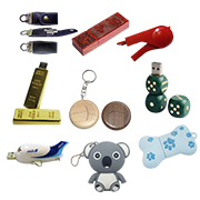 Promotional mini USB flash drive stores up to 64GB