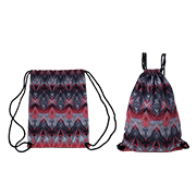 Mock tie-dyed recyclable drawstring bag