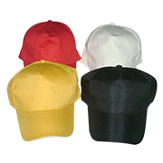 Six-panel promotional sports cap in adult sizes