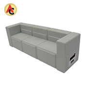 Sofa-shaped rubber power bank