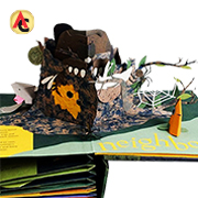 Nature-themed storytelling pop-up book