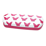 Eyeglass case with butterfly embroidery