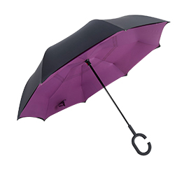 Promotional inverted umbrella uses pongee