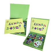 Magnetic puzzle set teaches math, spelling