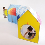 Space-saving playhouse expands like an accordion