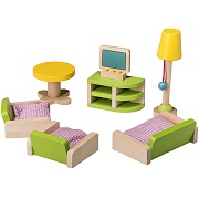 Wooden Living Room Doll House Furniture By Dragon Drew (10 PC Set)
