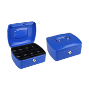Portable cash box with removable coin tray
