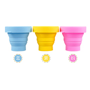 Collapsible silicone drinking cup