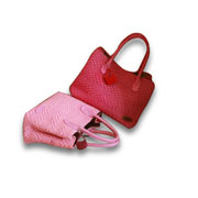 Women's handbag in nylon yarn