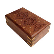 Jewelry box with fine handcarved details