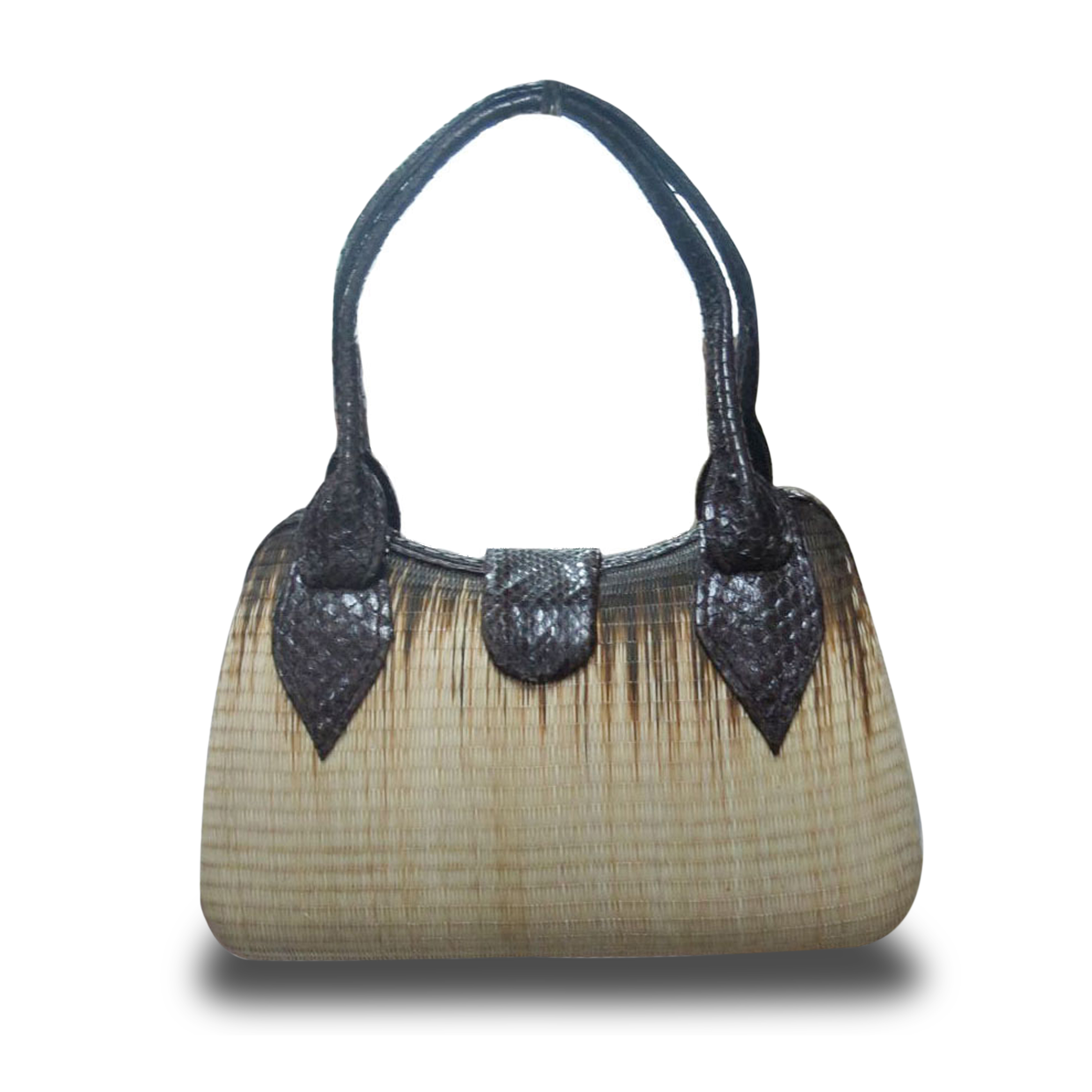 Handbag made of natural buntal fiber