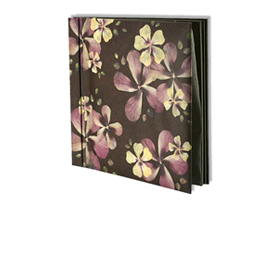 Photo album with real pressed flowers