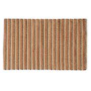 Recyclable bath rug woven from jute