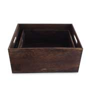 Phoenix' wood closet storage box