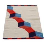 Pure wool area rug woven by hand