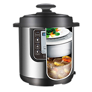 Electric pressure cooker for tiered cooking