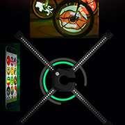 Spoke light shows personalized designs