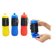 Patented foldable plastic water bottle