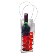 Colorful liquid-filled wine cooler bag