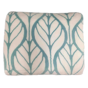 Polyester blanket with allover leaf patterns