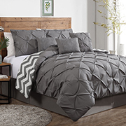 Simple Geneva Home Fashion Piece Ella Pinch Pleat Comforter Set