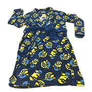 Allover Minion-print children's bathrobe