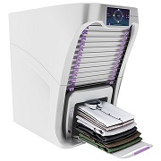 Laundry folding machine also de-wrinkles, perfumes clothes