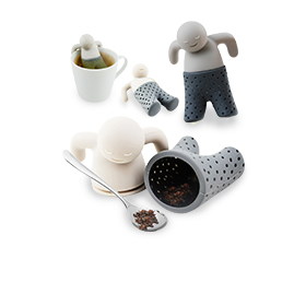 Relaxing man is silicone tea infuser