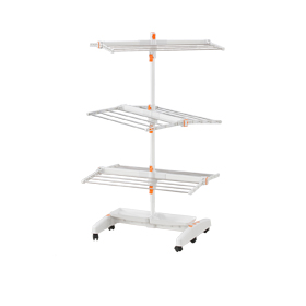 Movable, rotary clothes drying rack