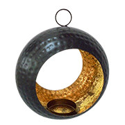 Hanging spherical tealight holder
