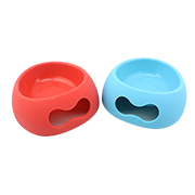 Silicone pet bowl is foldable