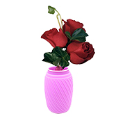 Collapsible silicone flower vase