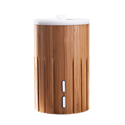 Bamboo-housed aroma diffuser, LED lamp