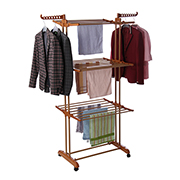 Foldable clothes rack with removable tiers
