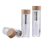 Glass infuser bottle withstands -10 to 150 C