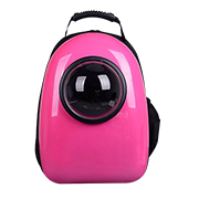 Capsule pet backpack with viewing window