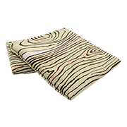 Wood-patterned jacquard beach towel