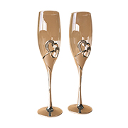 Bejeweled crystal champagne flute