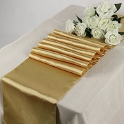 MDS Pack Of 10 Wedding 12 x 108 inch Satin Table Runner