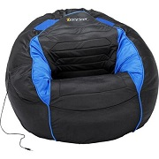 Stylish Blue and Black Bean Bag Sound Chair Perfect For Gamer