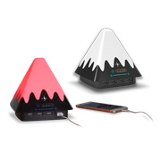 LED mountain lamp charges four gadgets at once