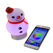 App-controlled lamp also a Bluetooth speaker