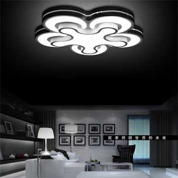 Adjustable ceiling light is flower-shaped