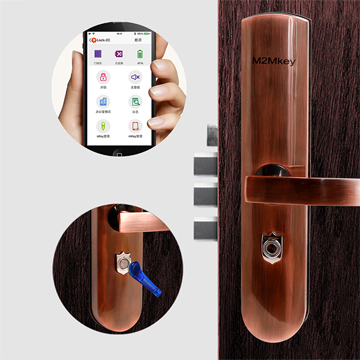 Smart door lock opens via apps, Skeys