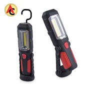 Portable LED work light swivels 180 degrees