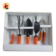 Black powder-coated garden hand tool set