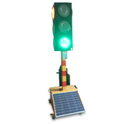 Solar wireless traffic light is portable